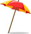 Leinwandbild Motiv пляжный зонтик