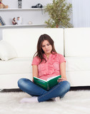 beautiful young woman  with a book