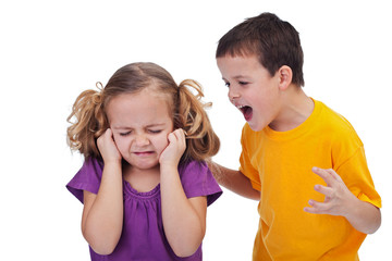 Quarreling kids