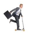 Hombre de negocios patinando