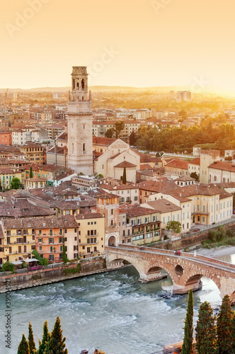 Verona from high - Ponte Pietra - Italy