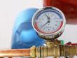 Leinwandbild Motiv Temperature and pressure gauge