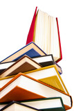 libros aislados en fondo blanco