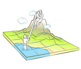 Cartographer making a map