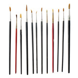 Used art brushes