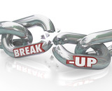 Break-Up Broken Links Chain Separation Divorce