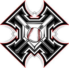 Baseball Softball Bats Graphic Vector Template