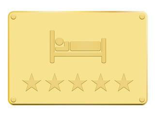 Plaque en or hôtel 5 étoiles