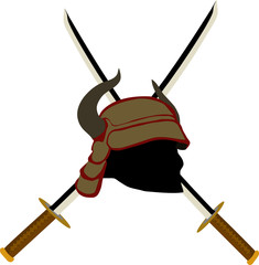 spada e maschera giapponese
