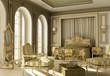 Luxury rococo bedroom.