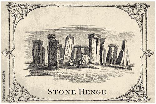stone henge, stonehendge - vector - 39012996