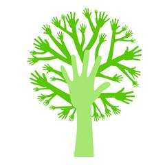 Baum aus Händen