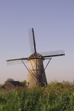 A windmill in Kinderdijk in the Netherlands