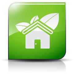 Symbole glossy vectoriel habitat écologique
