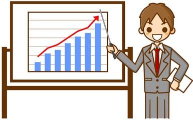 ビジネスマン 業績アップ