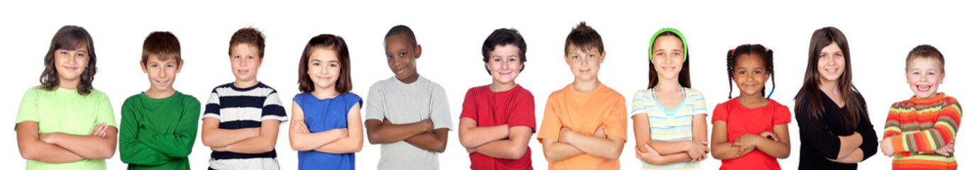 Children«s group with crossed arms