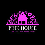 Logo Pink House # Vector