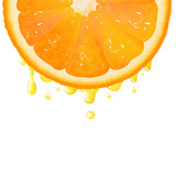 Orange Segment With Juice