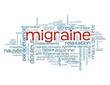 """Nuage de Tags """"MIGRAINE"""" (maux de tête aspirine stress santé)"""