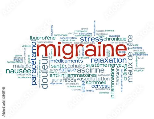 nuage de tags migraine maux de t te aspirine stress sant fichier vectoriel libre de. Black Bedroom Furniture Sets. Home Design Ideas