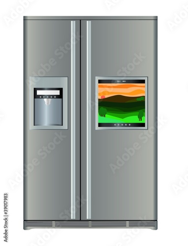 Fridge with TV