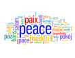 """PEACE"" Tag Cloud (love hope friendship paix frieden paz pace)"
