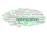 """OPTIMIZATION"" Tag Cloud (design cad engineering manufacturing)"