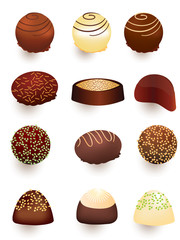 Mix of chocolate candies