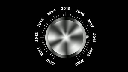 Rotating button selecting year 2012