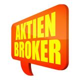 sprechblase v3 aktien-broker I poster