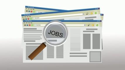 Internet job searching
