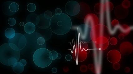 Heartbeat sign with colorful bokeh background