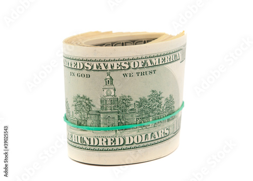 dollars isolated