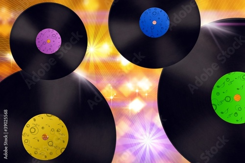 Background_Vinyl record.