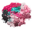 set of multicolor crushed eyeshadows