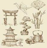 Fototapety japan design elements
