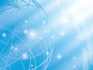 abstract vector background with blue globe - eps 10