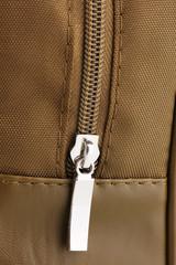 Bag's zipper close up