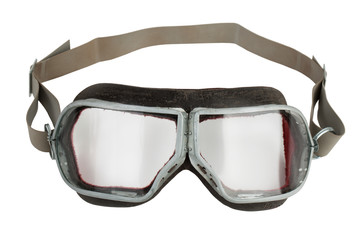 Vintage leather aviation glasses