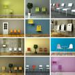 Stühlesammlung - 12 Bilder mit Stühlen
