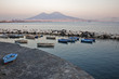 boats and Vesuvius