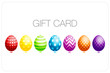 Gift Card Set 7 Easter Eggs Colour