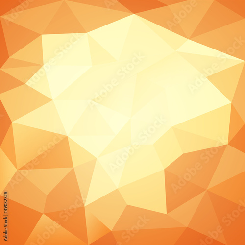 Abstract paper orange background vector illustration
