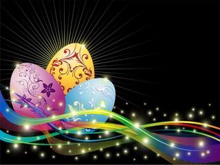 Uova di Pasqua Colori Astratto-Easter Eggs Colors Abstract