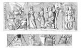 Development of Vase of Mantua, vintage engraving. - 39035770