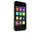 Leinwanddruck Bild - Smartphone stehend mit Apps