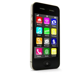 Smartphone stehend mit Apps