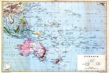 The colourful Map of Oceania