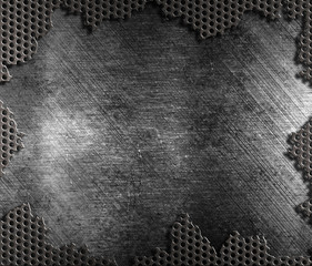 damaged metal grate background
