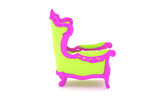 Luxury modern green chair in a pink frame poster